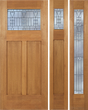 Brooklyn - Craftsman Design Mahogany Wood Door with Beveled Glass