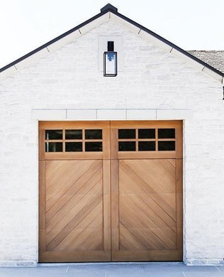 Cielo - Spanish Style Custom Wood Garage Door