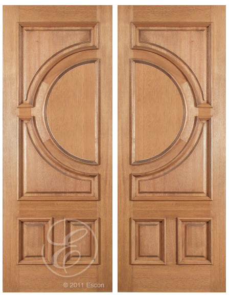 Conner One Side Raised Moulding Mahogany Wood Exterior