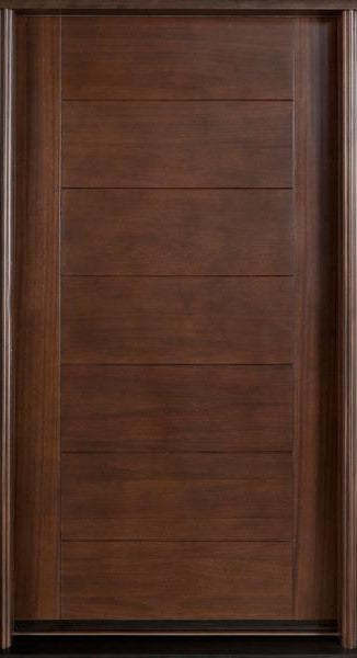 Cooper Modern Mahogany Wood Entry Solid Door Lux