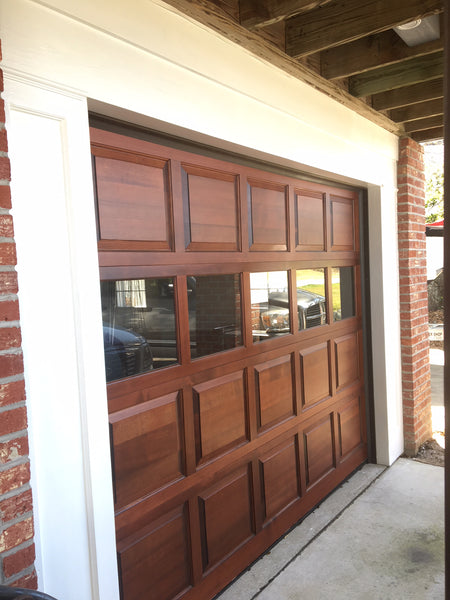 Dallas - Colonial Style Custom Wood Garage Door