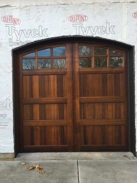 Montage - Spanish Style Custom Wood Garage Door