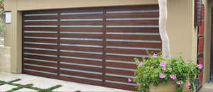 Elena - Modern Style Custom Wood Garage Door