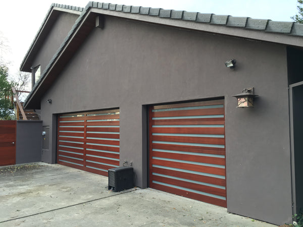 modern wood garage door. Elena - Modern Style Custom Wood Garage Door