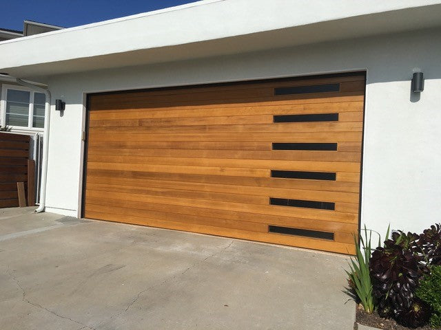 Emilio Modern Style Custom Wood Garage Door Lux Garage