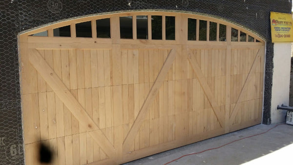 Fabienne - Barn Style Custom Wood Garage Door