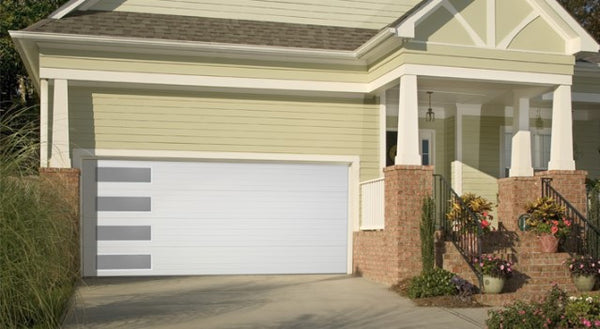 Mundo - Flush Panel Steel Garage Door With Vertical Windows