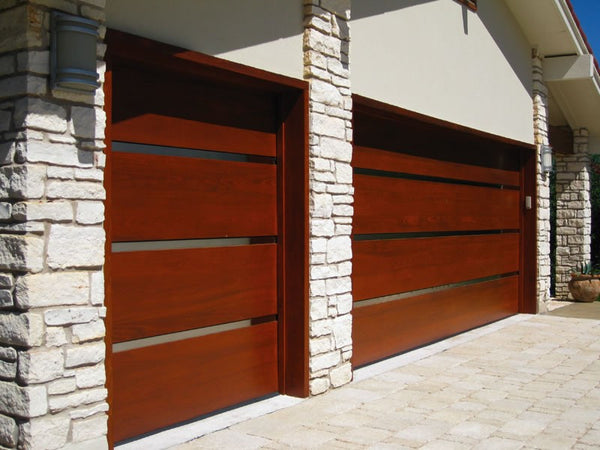 Genesis   Modern Style Custom Wood Garage Door