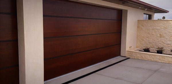 Genesis - Modern Style Custom Wood Garage Door