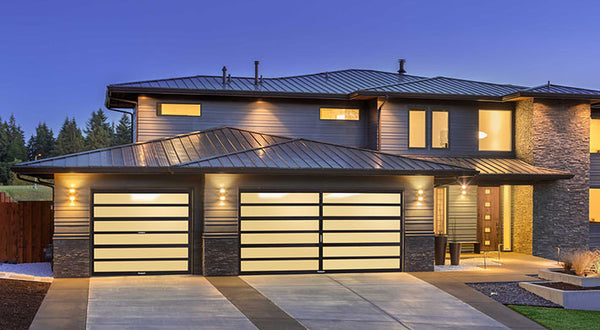 The Horizon - Contemporary Aluminum \u0026 Horizontal Glass Garage Door & The Horizon - Contemporary Aluminum \u0026 Horizontal Glass Garage Door ... Pezcame.Com