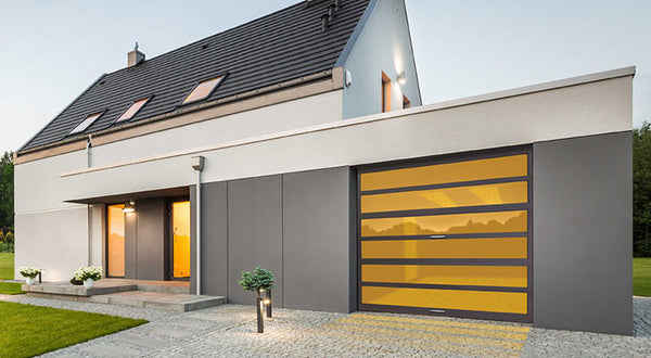 The Horizon - Contemporary Aluminum & Horizontal Glass Garage Door