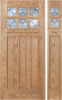 Kaylee - Craftsman Design Oak Wood Door with Beveled Glass