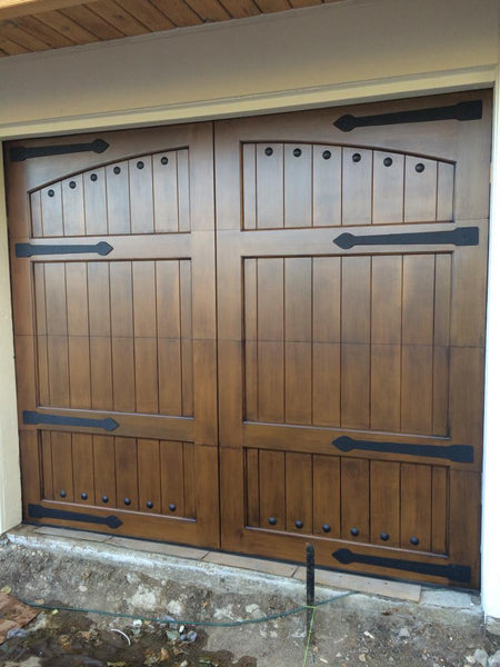 Lafayette Spanish Style Custom Wood Garage Door Lux