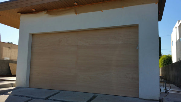 Lucas   Modern Flush Style Custom Wood Garage Door