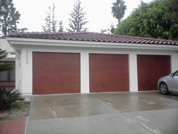 Lucas - Modern Flush Style Custom Wood Garage Door