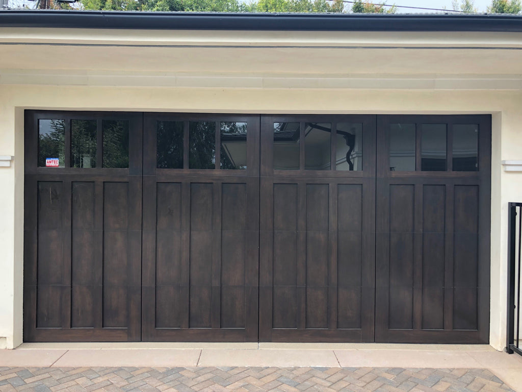 Madison Craftsman Style Custom Wood Garage Door Lux