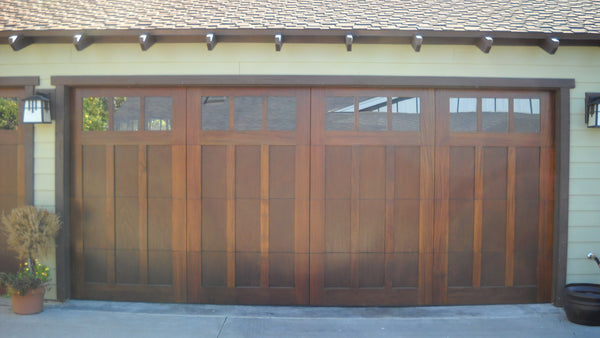 Madison - Craftsman Style Custom Wood Garage Door