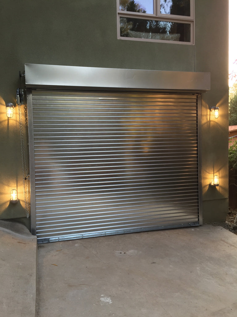 Model Hd5000 Heavy Duty Commercial 22 Gauge Steel Roll Up Door Lux Garage Doors