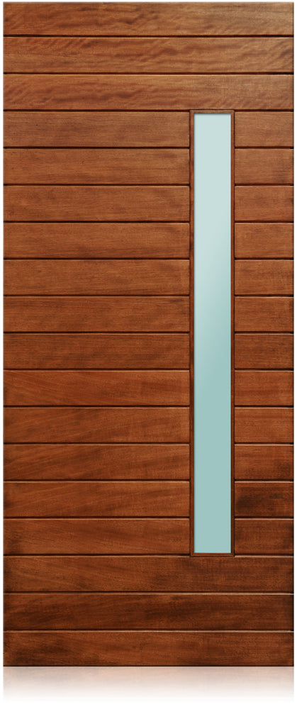 Nobu Modern Mahogany Wood Amp White Laminated Glass Entry