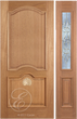 Orion - One Side Raised Moulding Mahogany Wood Exterior Door