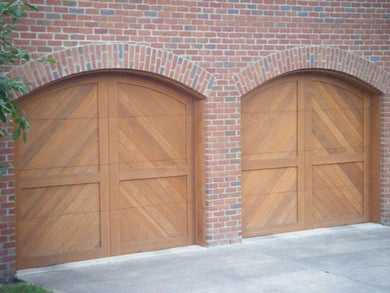 Riviera - Spanish Style Custom Wood Garage Door