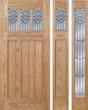 Sabrina - Craftsman Design Oak Wood Door with Beveled Glass