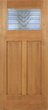 Samantha - Craftsman Design Mahogany Wood Door with Beveled Glass