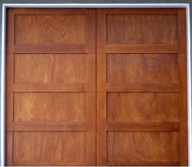Valentino - Modern Style Custom Wood Garage Door