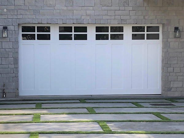 Vermont - Craftsman Style Custom Wood Garage Door