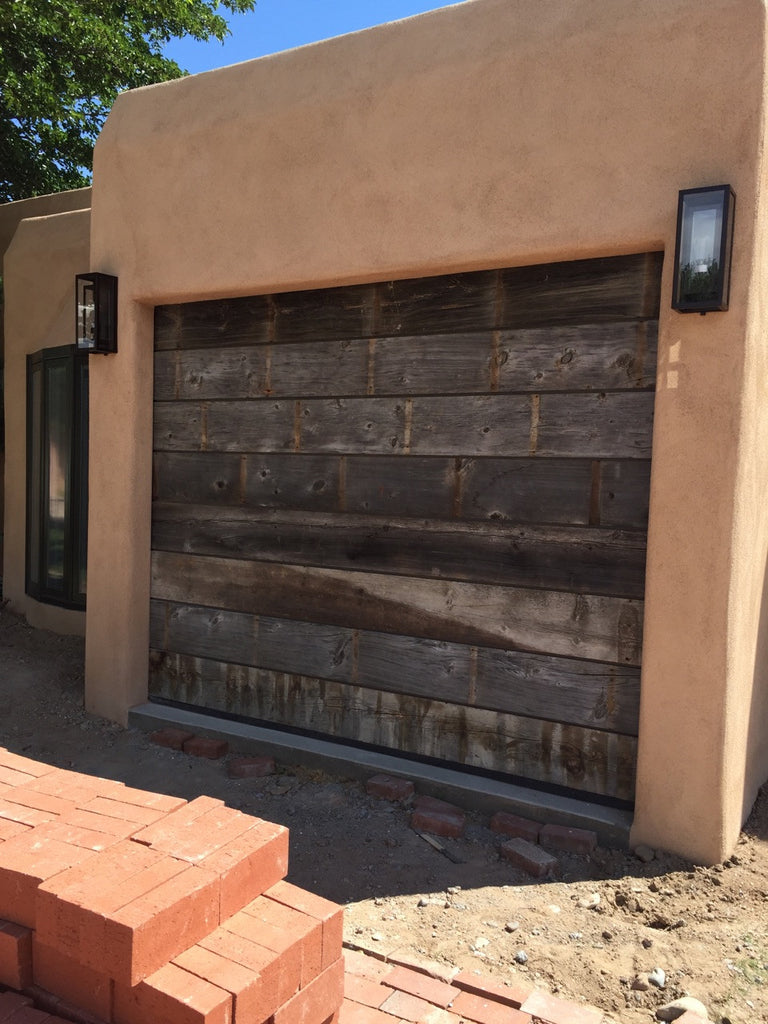 Vinity Vintage Style Custom Reclaimed Wood Garage Door