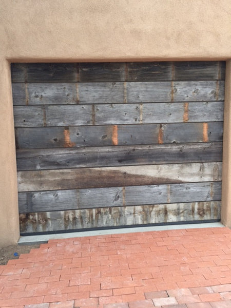 Vinity - Vintage Style Custom Reclaimed Wood Garage Door