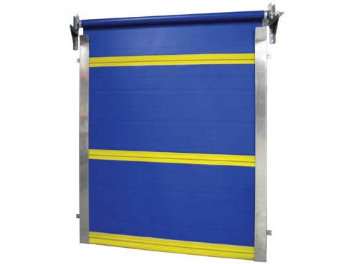 Vinyl Roll Up Door Using Spring-loaded