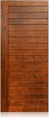 Lunario - Modern Mahogany Wood Entry Solid Door
