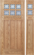 Zoey - Craftsman Design Oak Wood Door with Beveled Glass