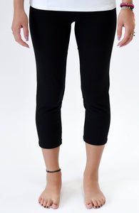 "Black 23"" Capri Length Legging - Basics by Michelle V"