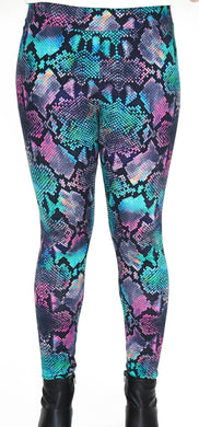 Colorful Animal Print Full Length Legging Front View