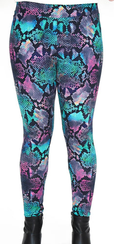Colorful Animal Print Full Length Legging - Basics by Michelle V