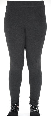 Charcoal Grey Heather Legging Front View