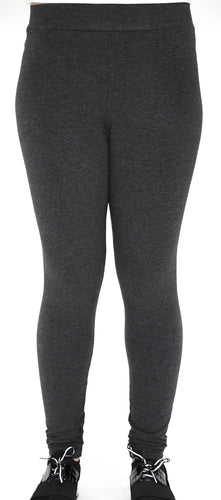 Charcoal Heather Grey Full Length Legging - Basics by Michelle V