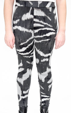 Graphic Zebra Print Full Length Legging Front View