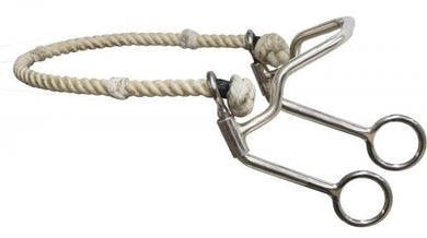 Showman ® quick stop with rope nose hackamore.
