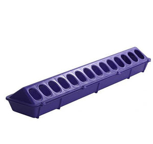 PLASTIC FLIP TOP POULTRY GROUND FEEDER - 20IN -