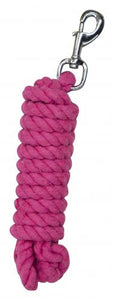 10'  braided cotton lead with swivel bolt snap.