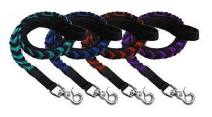 Showman Couture ™ Braided nylon dog leash.
