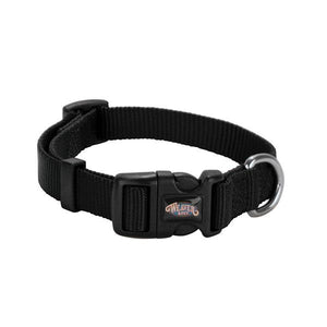 Prism Snap & Go Adjustable Nylon Dog Collar, Black,