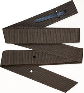 "Showman nylon tie strap is 1.75"" wide and 6 ft. long. Made by Showman Products."