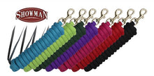 "Showman ®  5/8"" X 14' leather end nylon pro braid training lead"