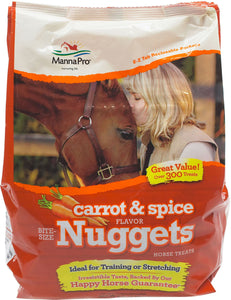 Manna Pro Horse Treats 4lb Apple, Carrot & Spice or Peppermint Nuggets