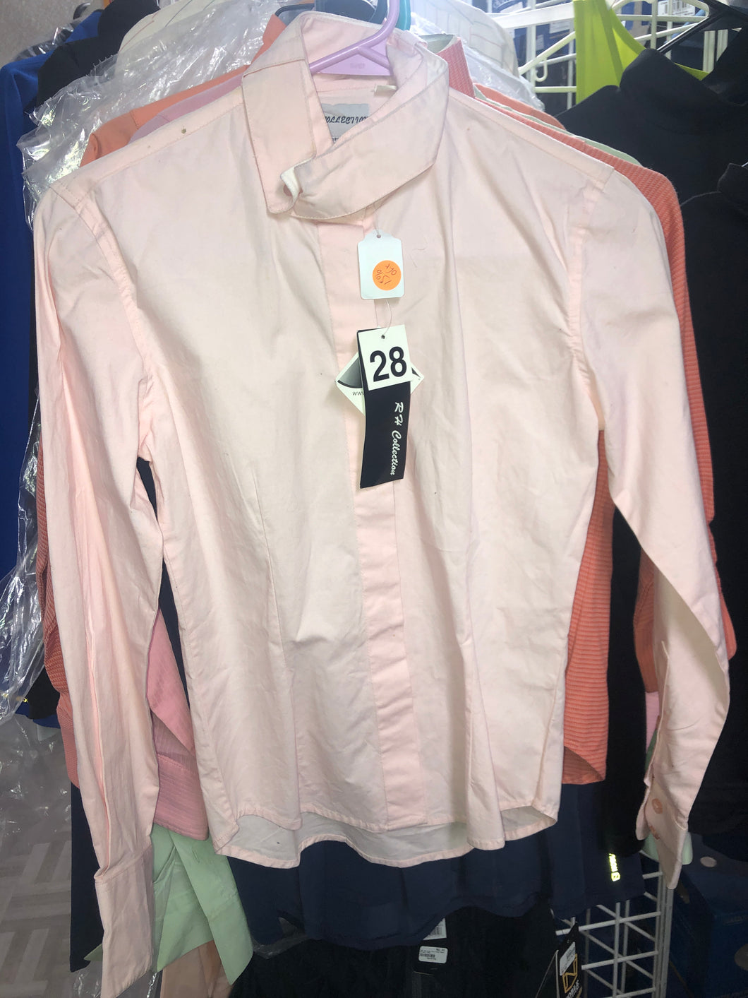 Ladies long sleeve shirt pink