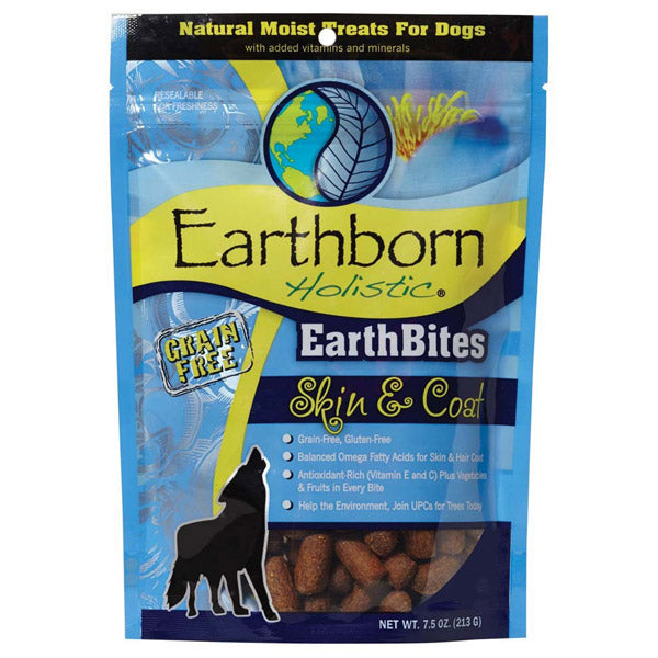 Earthborn Holistic Grain Free Dog Treats  Skin & Coat 7.5oz